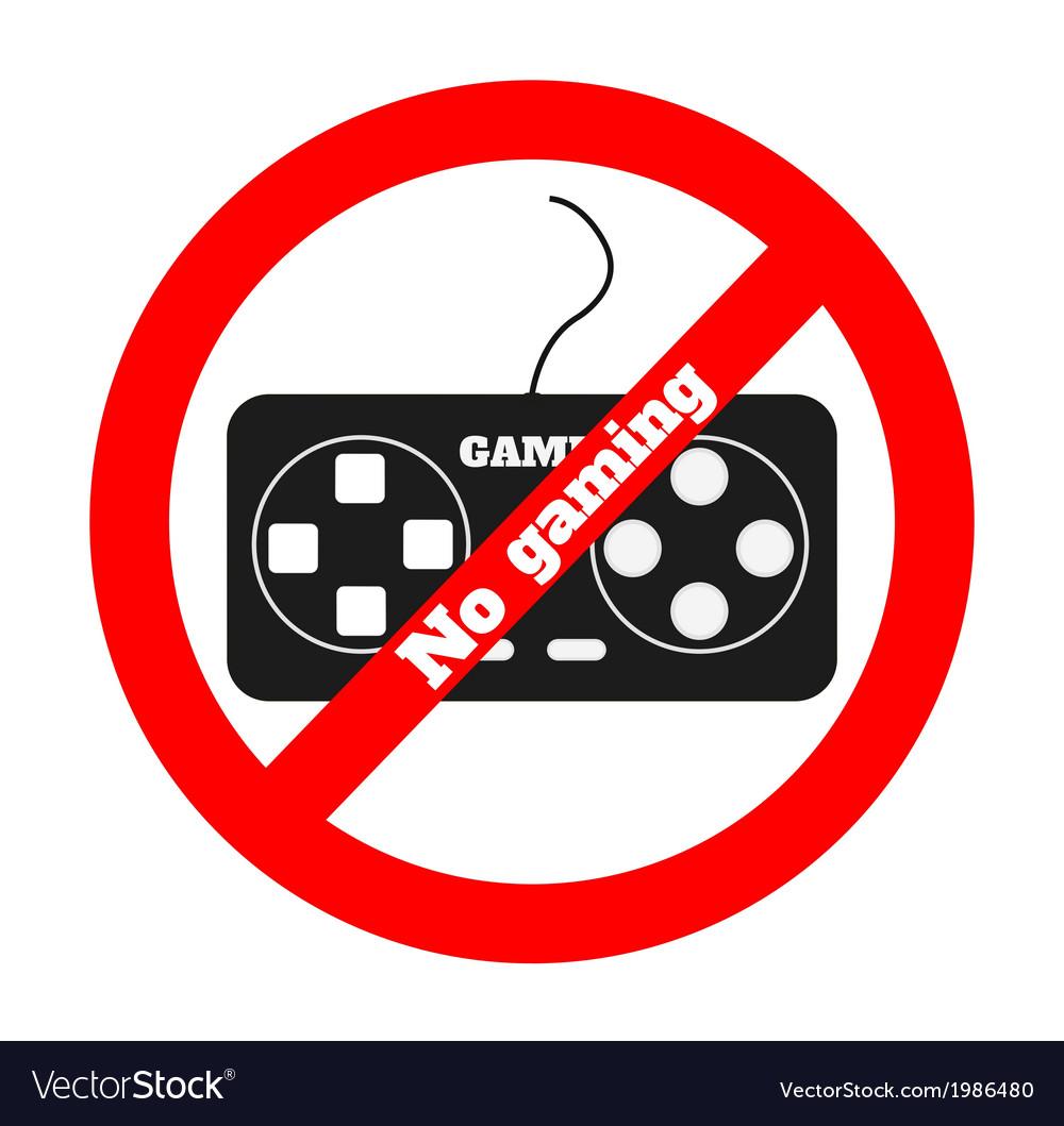 No gaming vector   Price: 1 Credit (USD $1)