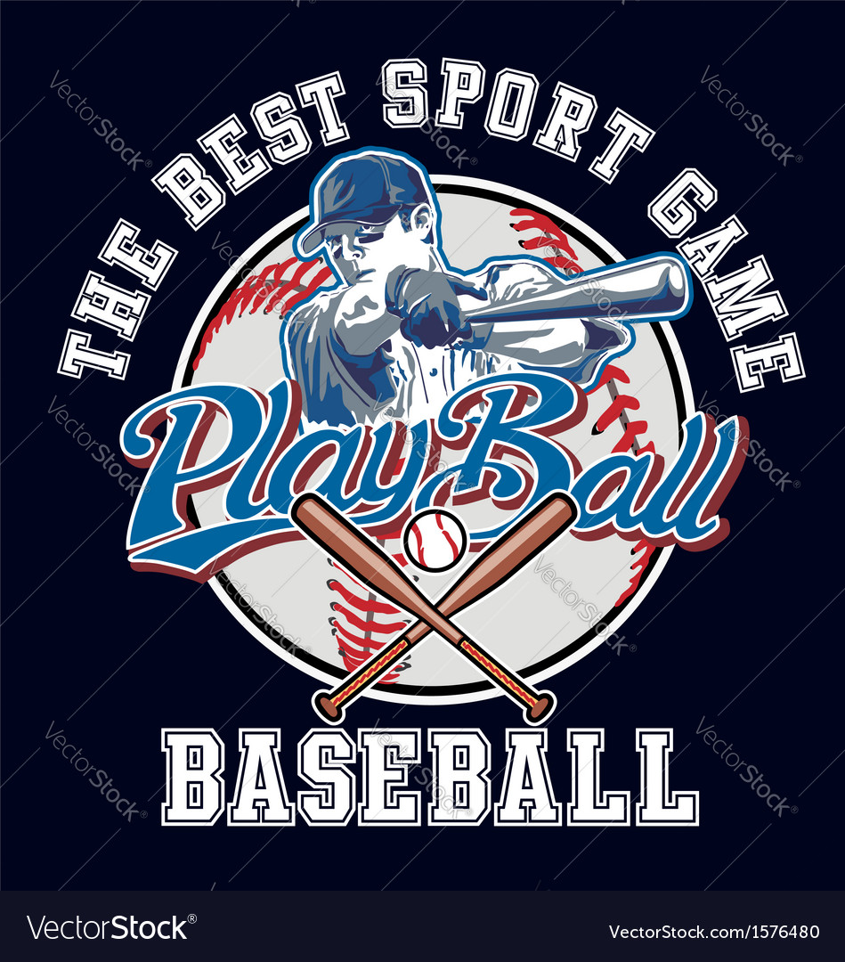 Playball baseball vector | Price: 1 Credit (USD $1)