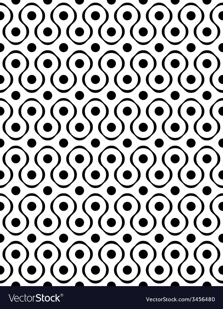 Polka dot seamless pattern with geometric figures vector | Price: 1 Credit (USD $1)