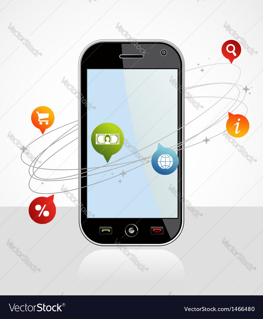Smartphone connection application vector | Price: 1 Credit (USD $1)