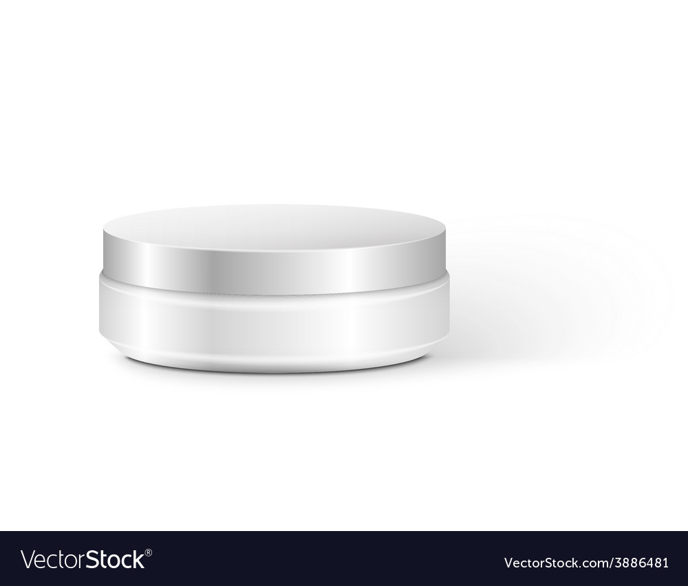 Blank cosmetic container for cream powder or gel vector   Price: 1 Credit (USD $1)
