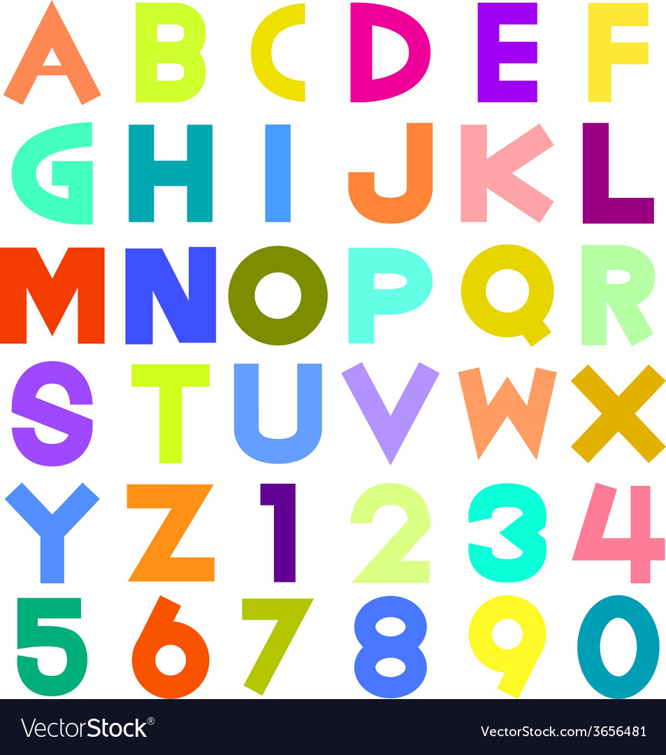 Colorful alphabet vector | Price: 1 Credit (USD $1)