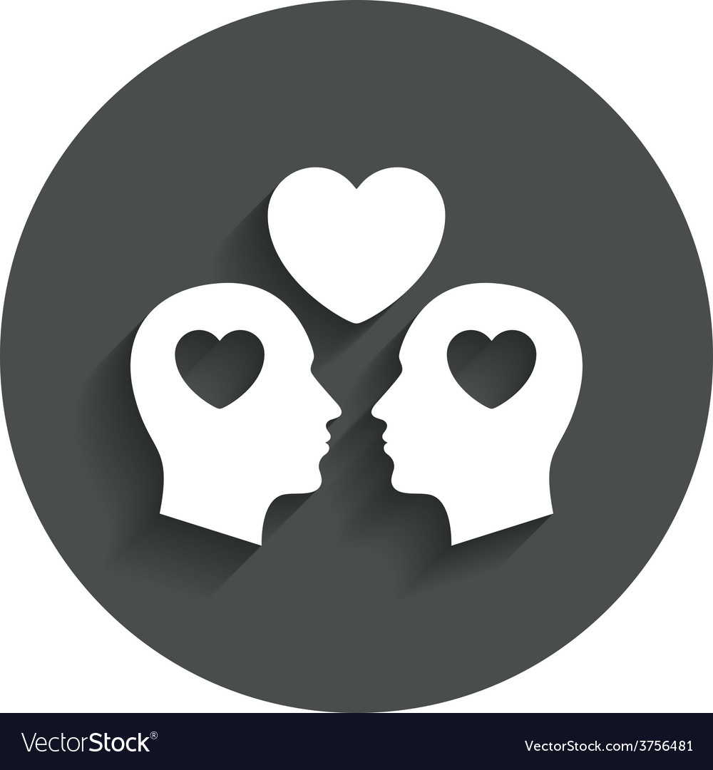Gay couple sign icon male love male vector | Price: 1 Credit (USD $1)