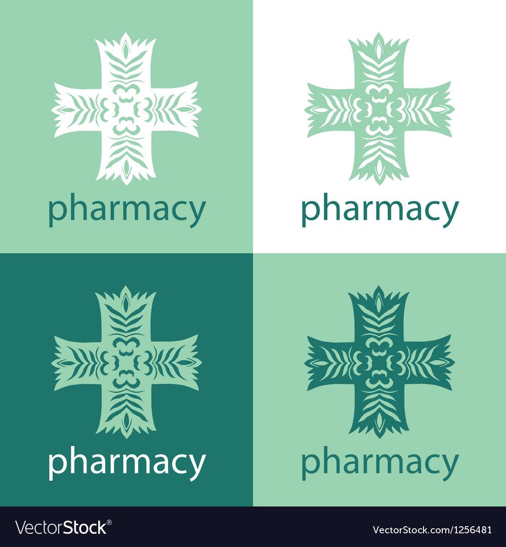 Green medicine logo vector | Price: 1 Credit (USD $1)