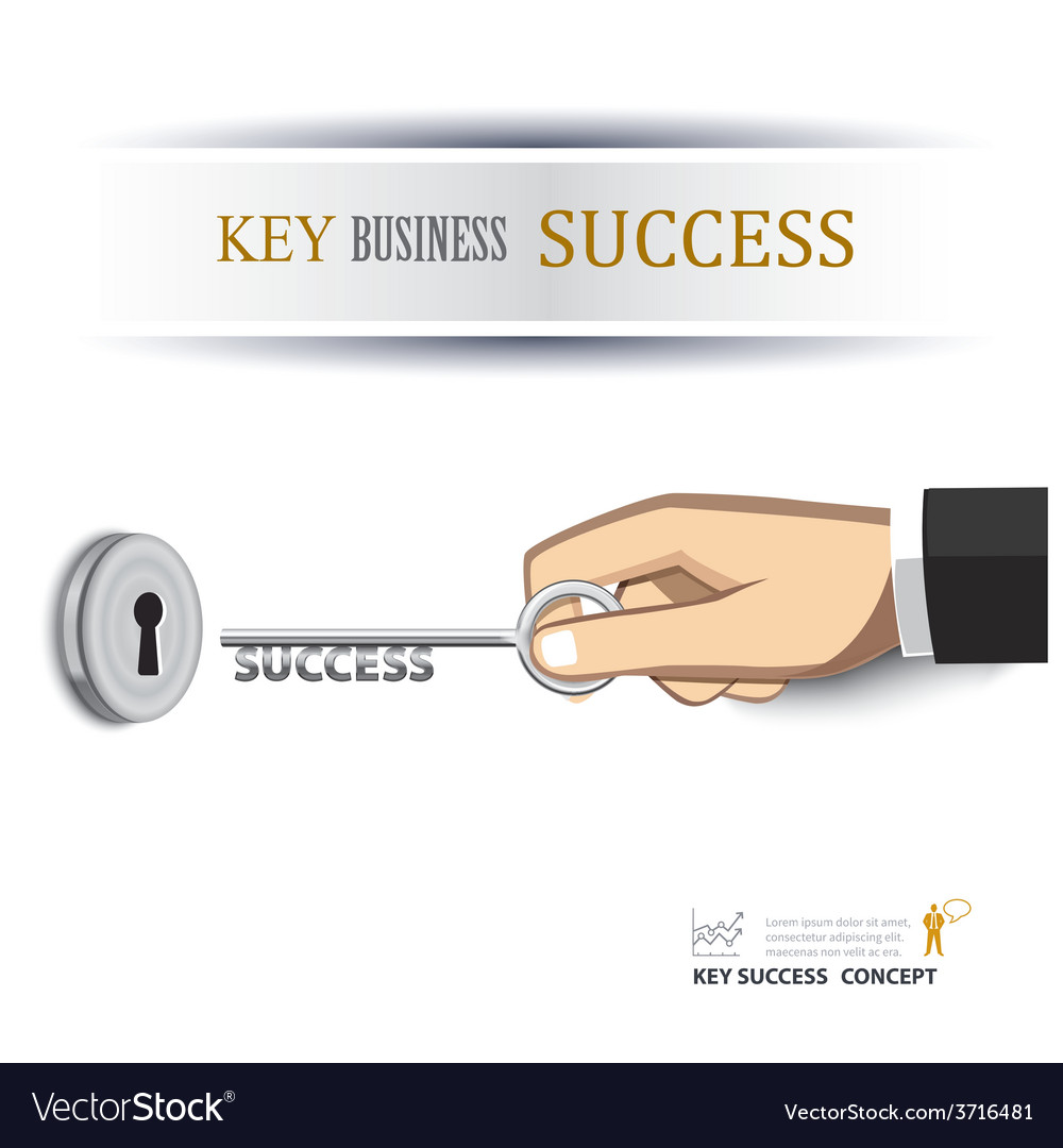 Hand unlock key success business vector | Price: 1 Credit (USD $1)