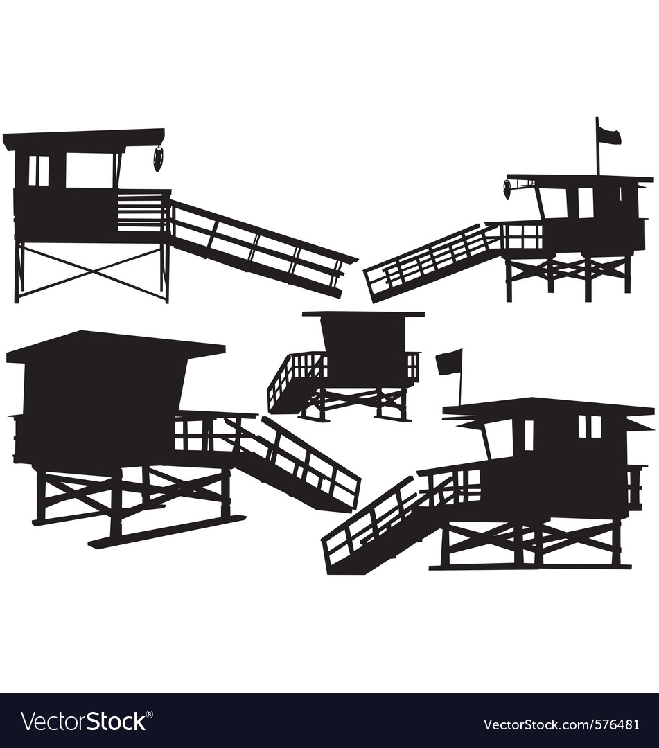 Lifeguard tower vector | Price: 1 Credit (USD $1)