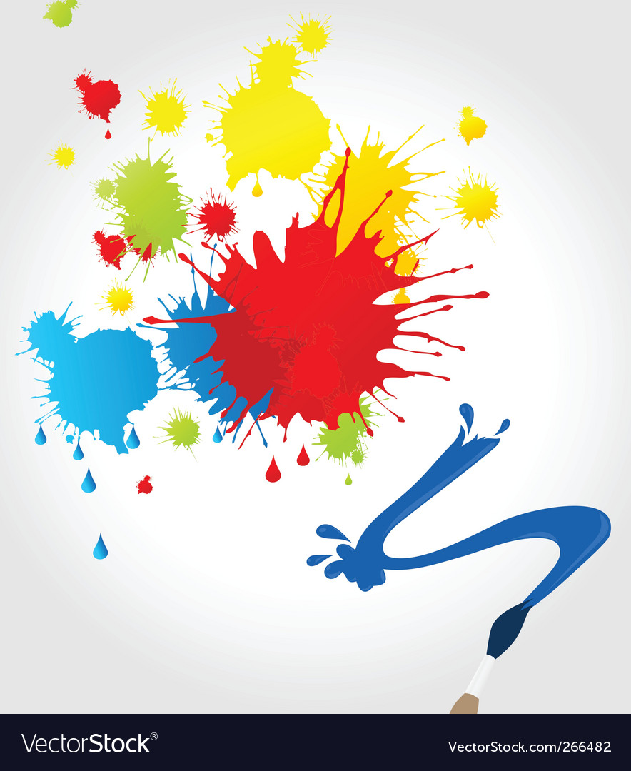 Brush paint splatter vector | Price: 1 Credit (USD $1)