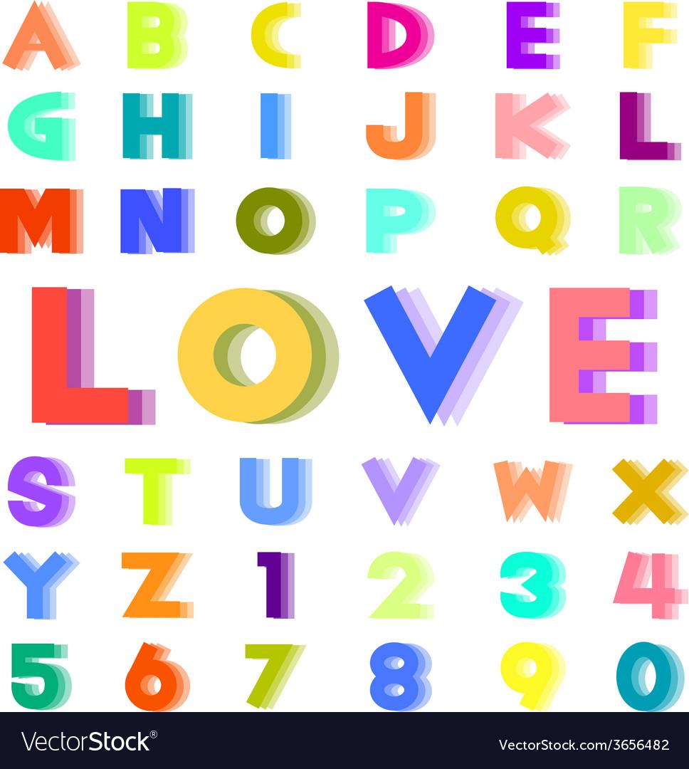 Colorful alphabet vector | Price: 1 Credit (USD $1)