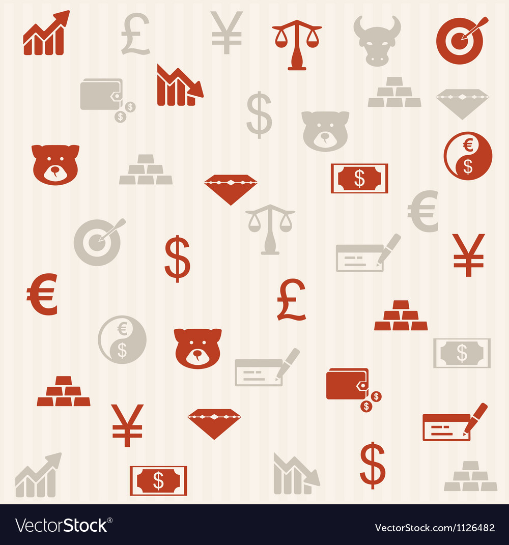 Finance seamless pattern 2 vector | Price: 1 Credit (USD $1)