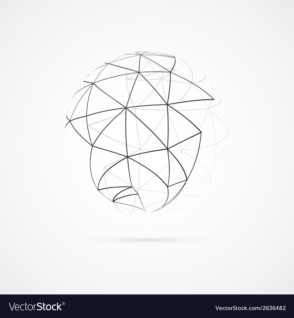 Globe with orbits vector | Price: 1 Credit (USD $1)