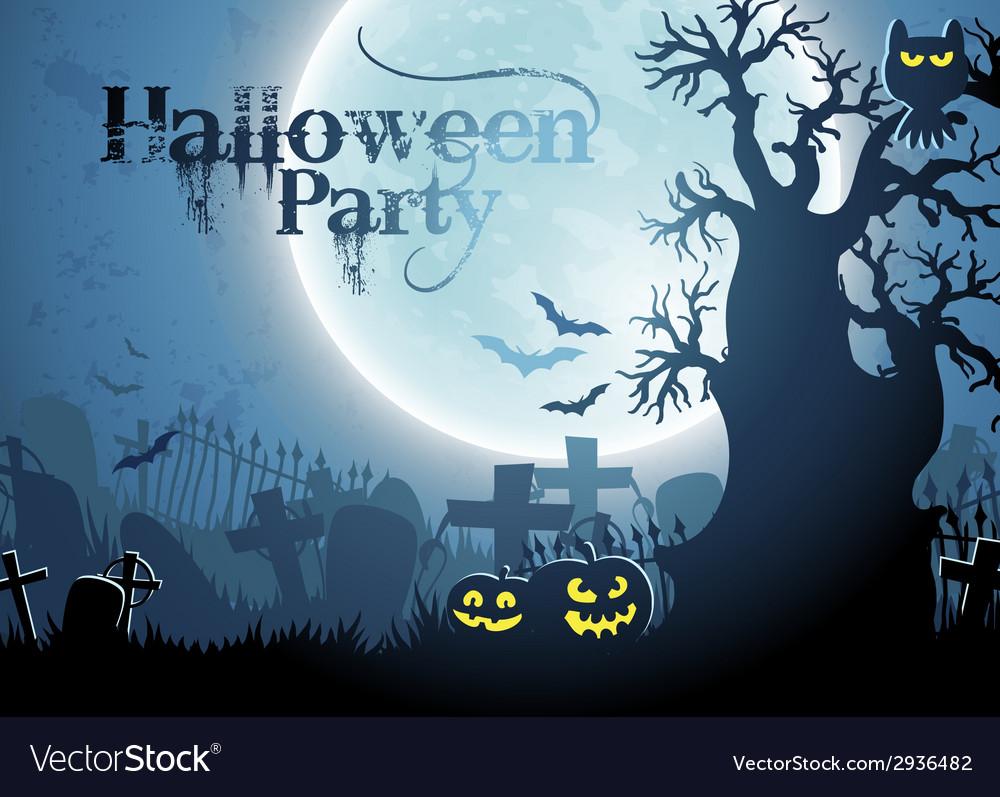 Halloween background vector | Price: 1 Credit (USD $1)