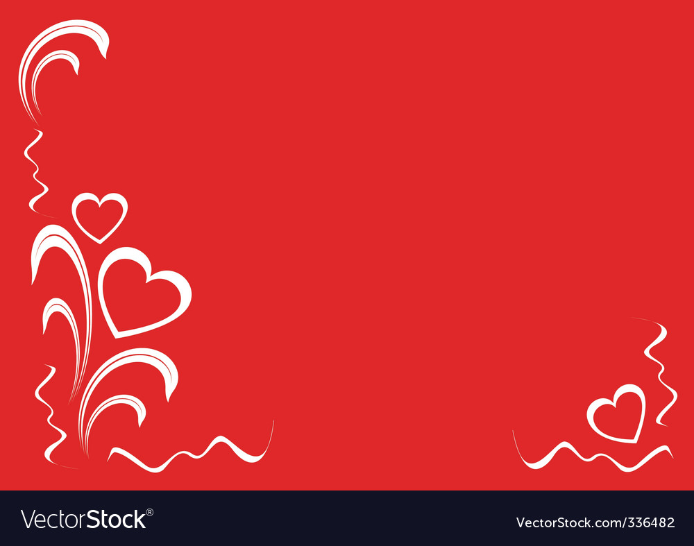 Hearts and floral ornaments vector | Price: 1 Credit (USD $1)