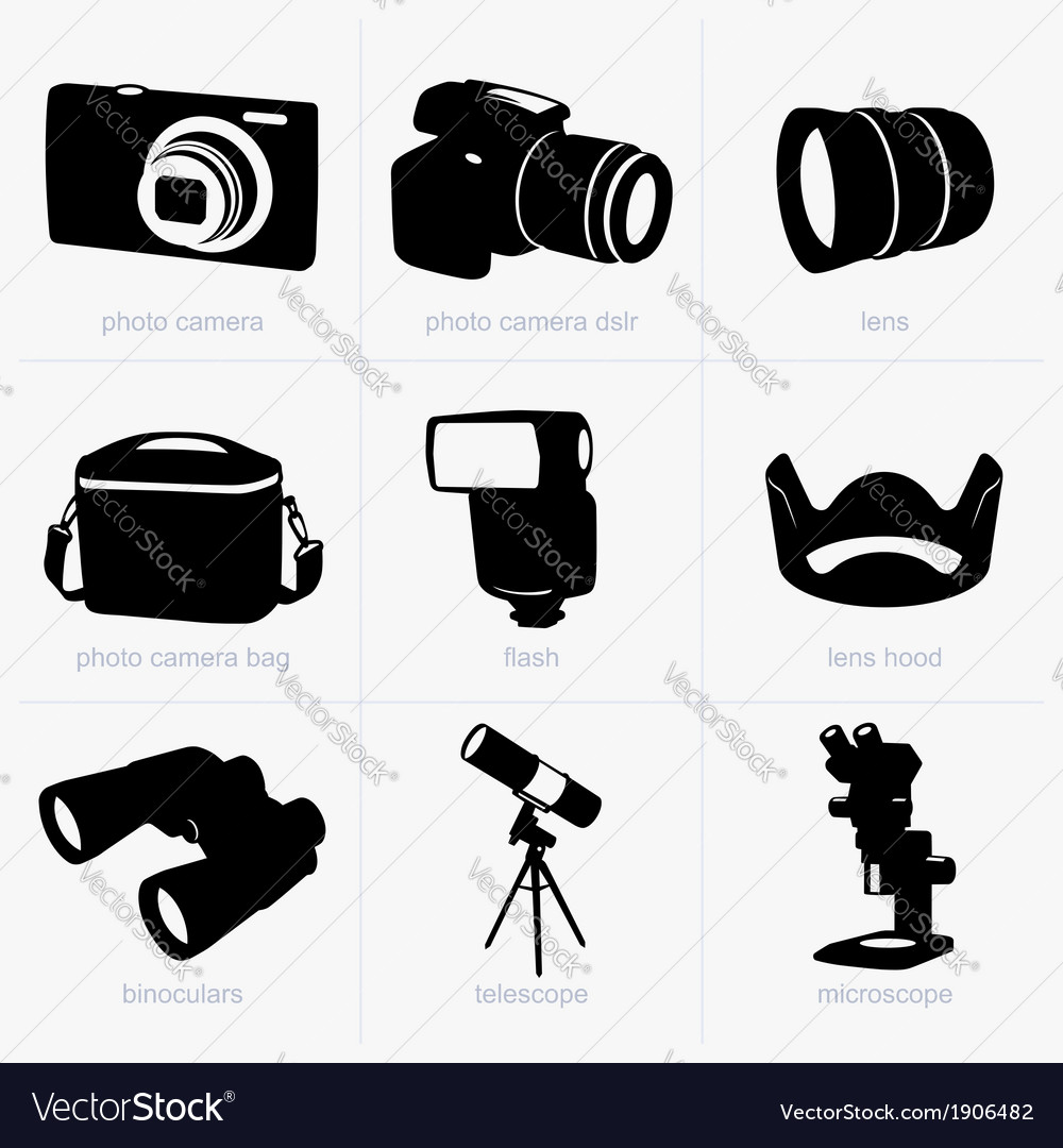 Optical equipment vector | Price: 1 Credit (USD $1)