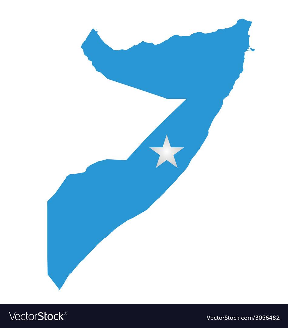 Somalia flag vector | Price: 1 Credit (USD $1)