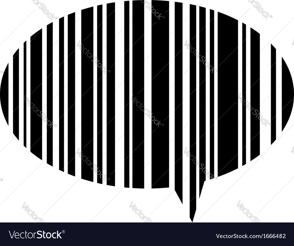 Speech bubble bar code vector | Price: 1 Credit (USD $1)