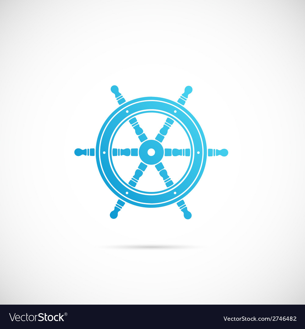 Steering wheel symbol icon or label vector | Price: 1 Credit (USD $1)