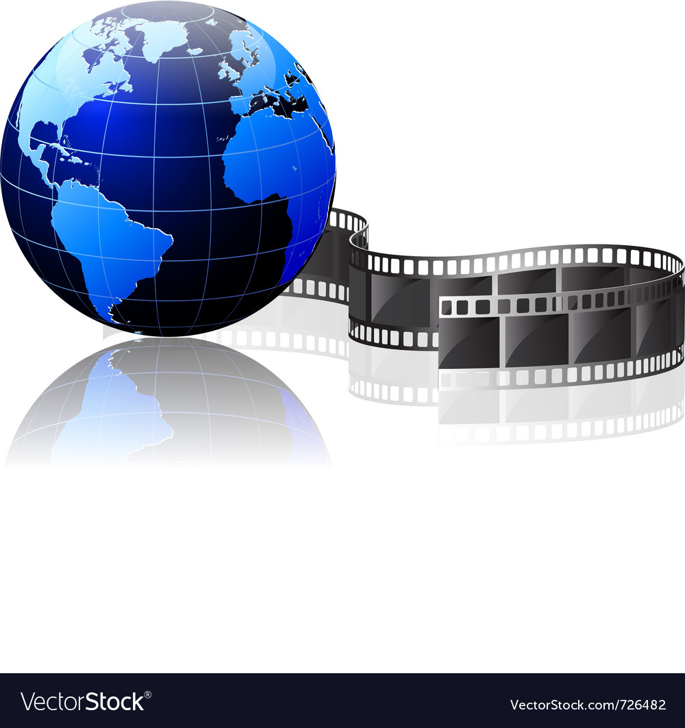 World and video vector | Price: 1 Credit (USD $1)