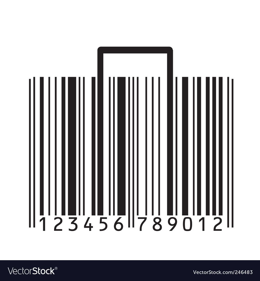 Barcode suitcase vector   Price: 1 Credit (USD $1)