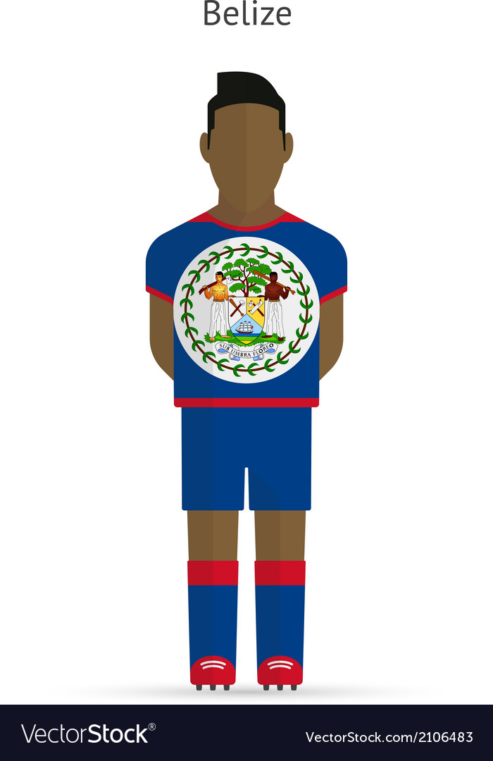 Belize football player soccer uniform vector | Price: 1 Credit (USD $1)