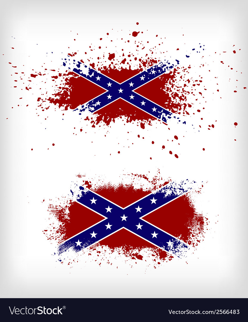 Grunge confederate flags set vector | Price: 1 Credit (USD $1)