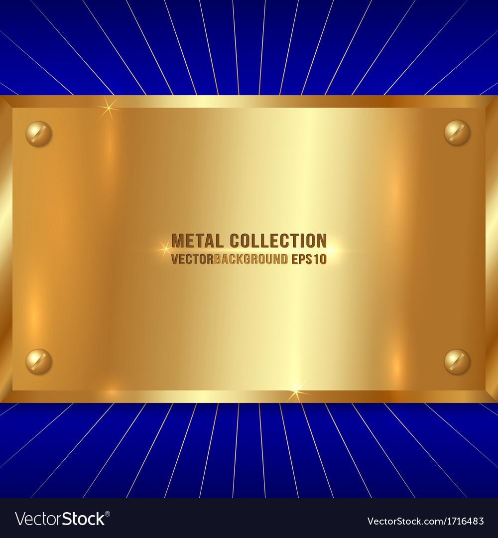 Metallic golden plate vector | Price: 1 Credit (USD $1)