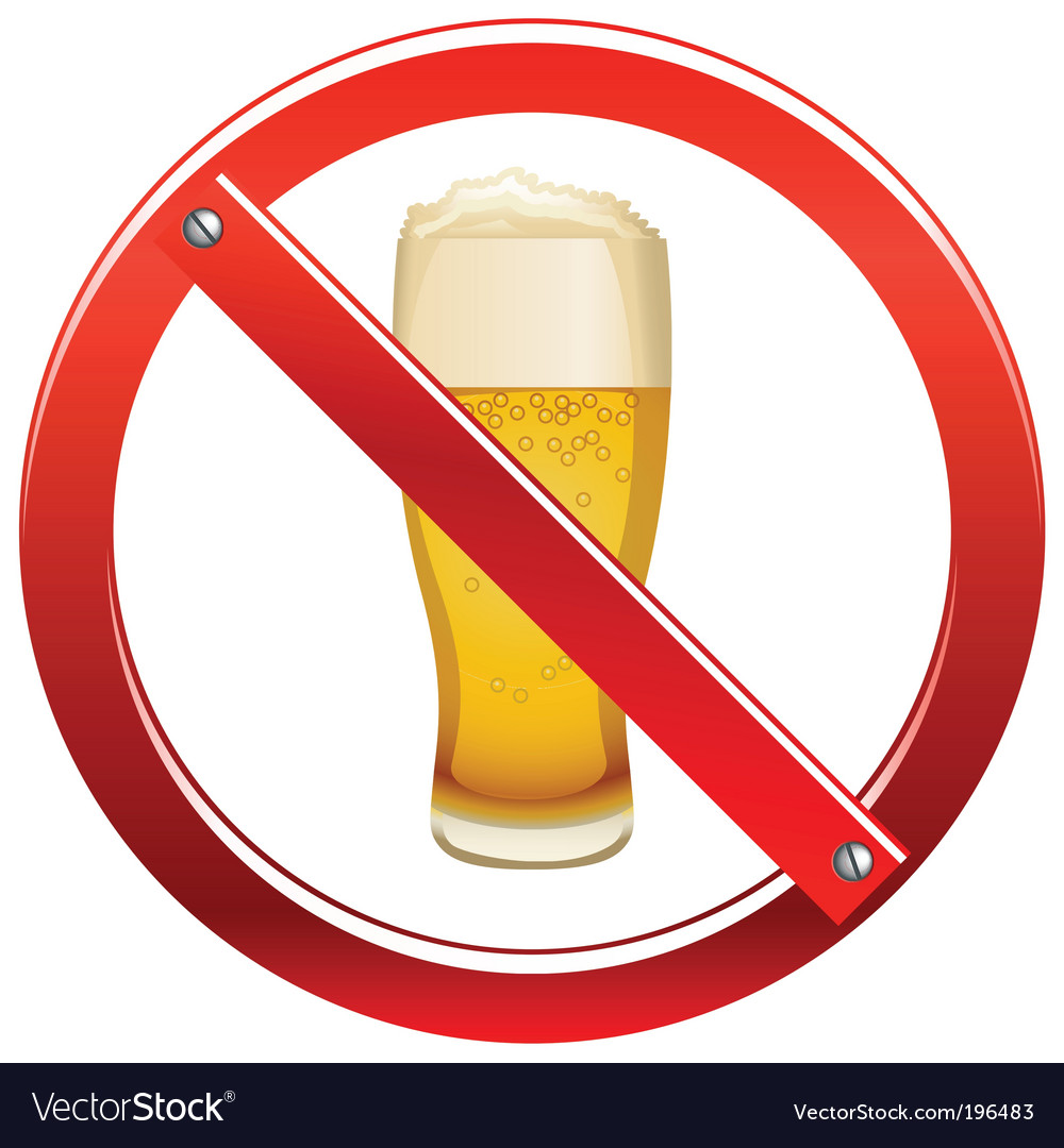 No drinking sign vector | Price: 1 Credit (USD $1)