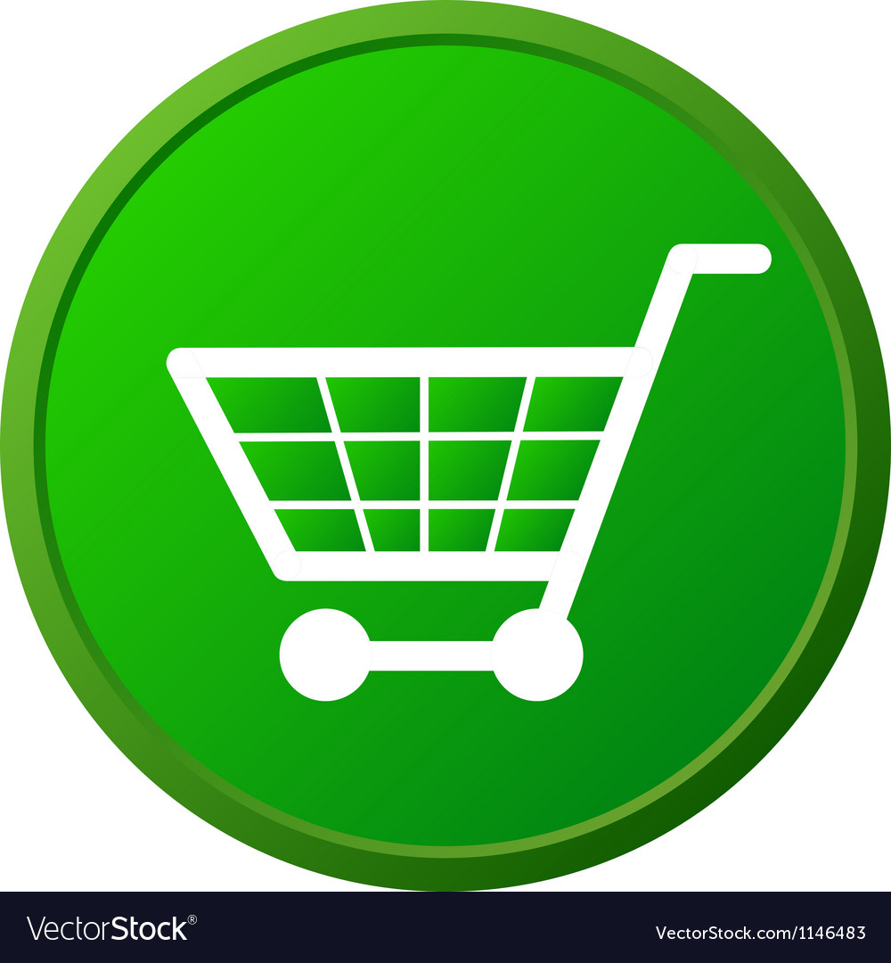 Shopping basket button vector | Price: 1 Credit (USD $1)