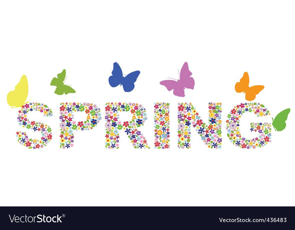 Viragok spring vector | Price: 1 Credit (USD $1)