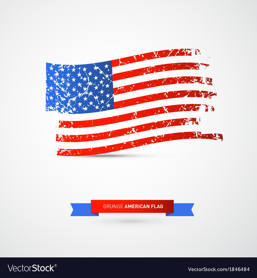 American flag - dirty grunge vector | Price: 1 Credit (USD $1)