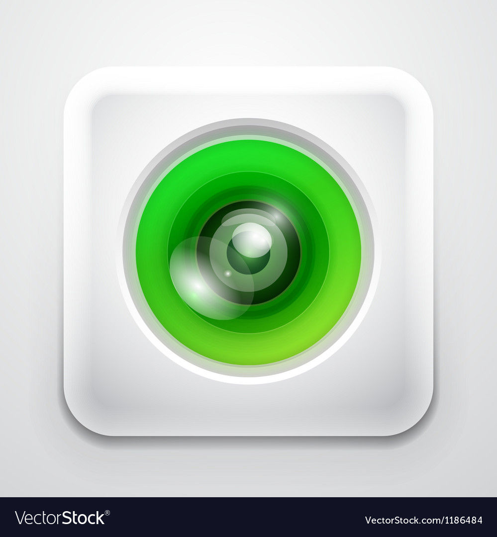 Colorful camera app icon vector | Price: 1 Credit (USD $1)