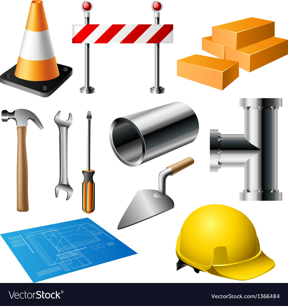 Construction item set vector | Price: 1 Credit (USD $1)