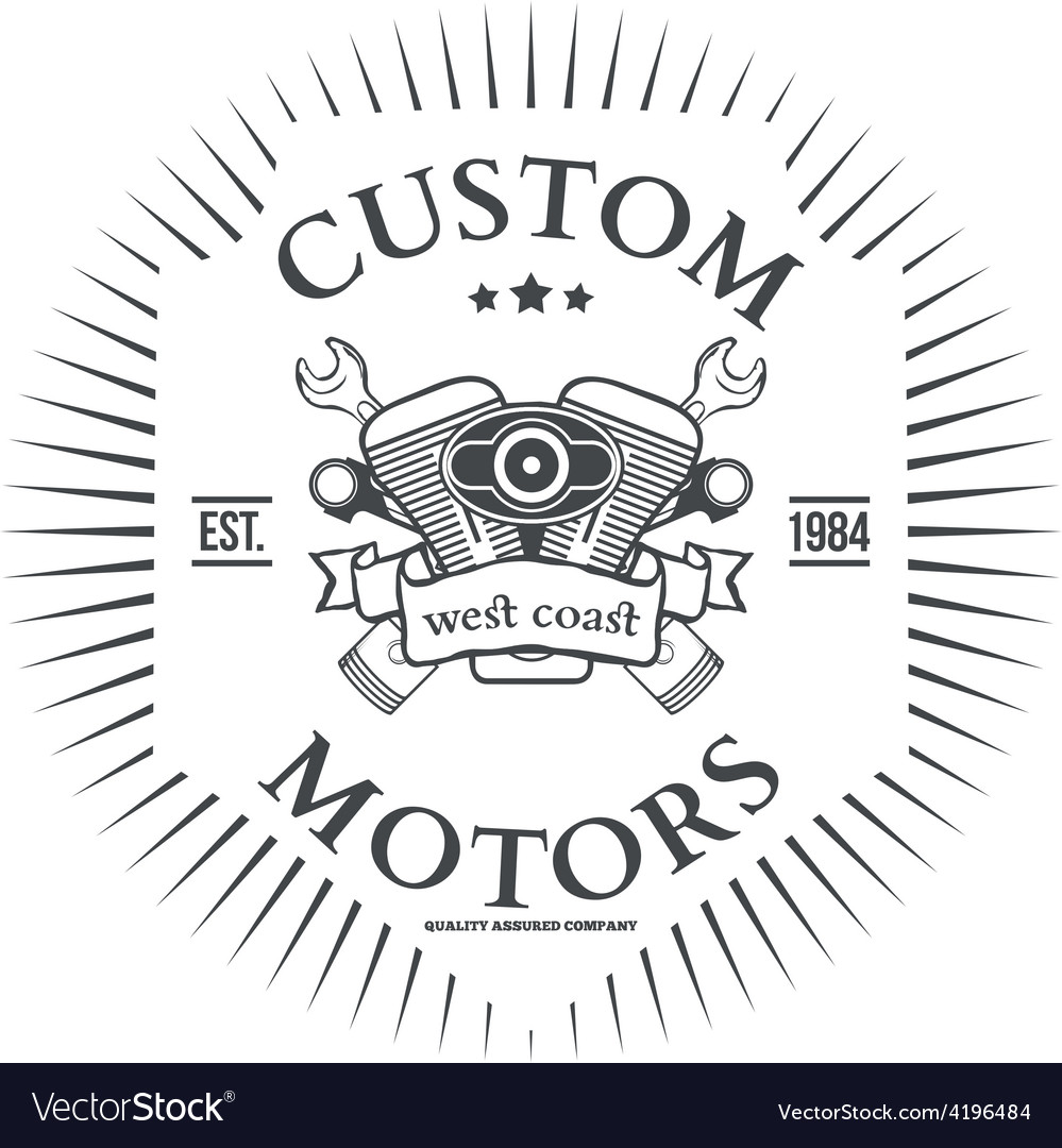 Custom motor t-shirt print design vector | Price: 1 Credit (USD $1)