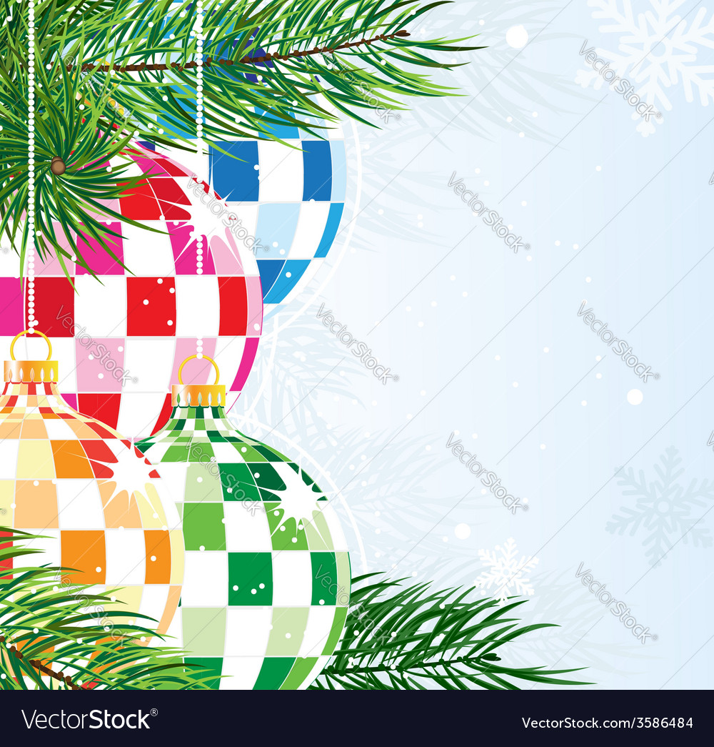 Disco balls christmas ornaments vector | Price: 1 Credit (USD $1)
