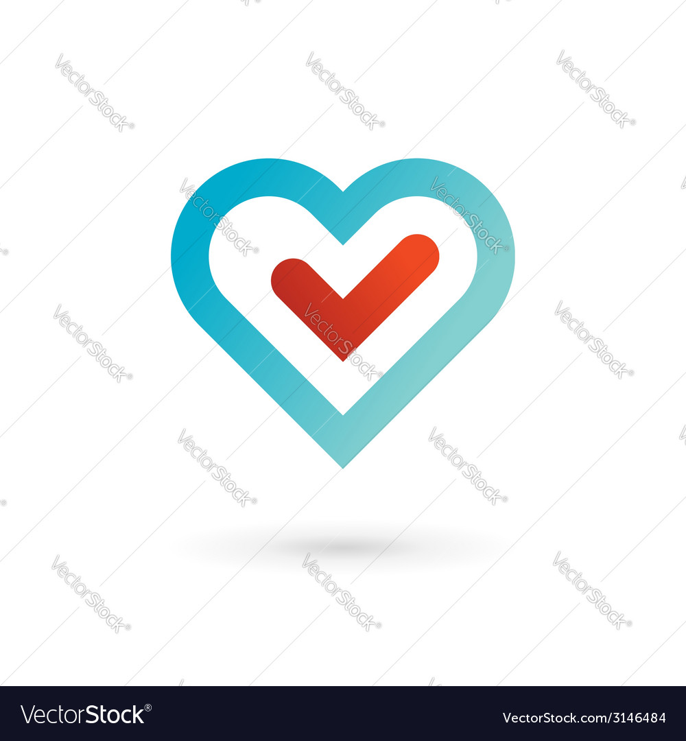 Heart symbol logo icon design template elements vector | Price: 1 Credit (USD $1)