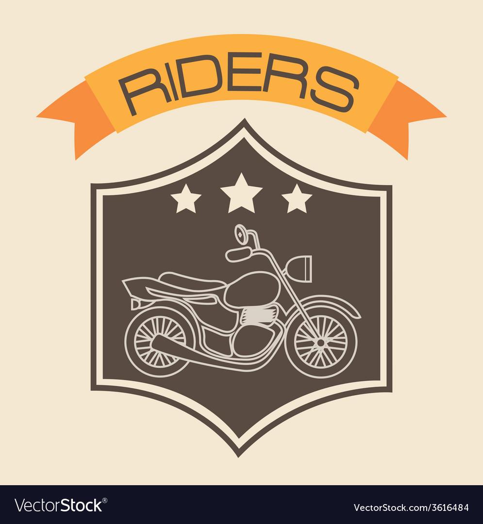 Motorcycle shield vector | Price: 1 Credit (USD $1)