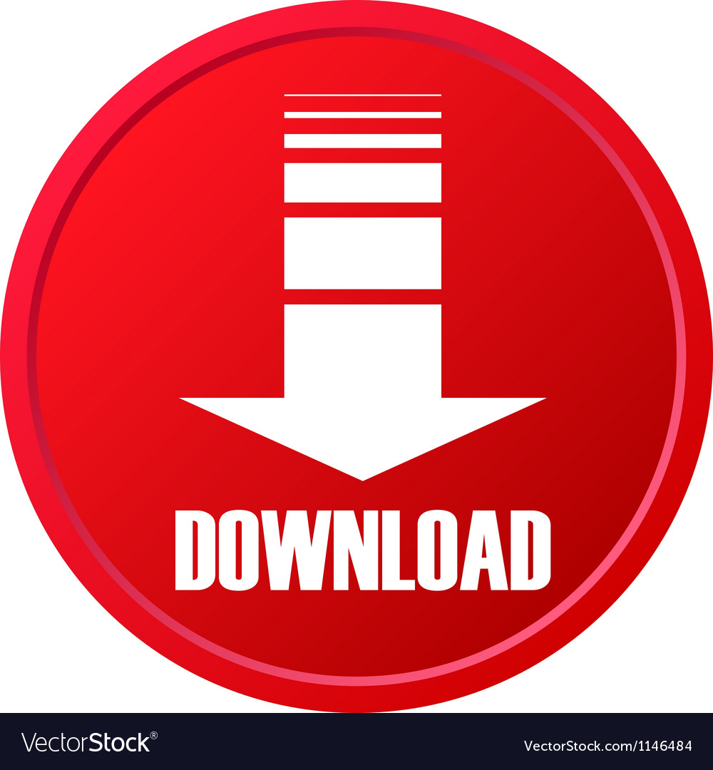 Red download button vector | Price: 1 Credit (USD $1)