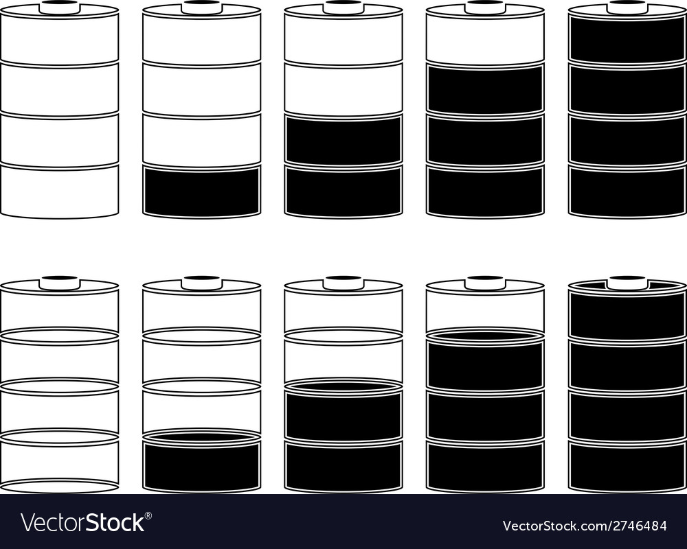 Stencils of batteries vector | Price: 1 Credit (USD $1)