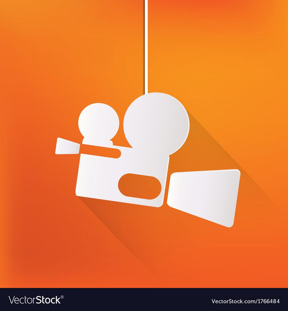 Videocamera web icon flat design vector | Price: 1 Credit (USD $1)