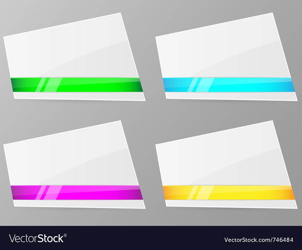 White paper with ribbon vector | Price: 1 Credit (USD $1)