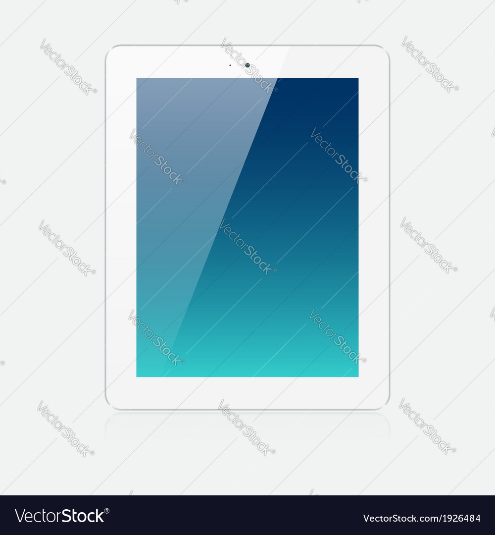 White tablet vector | Price: 1 Credit (USD $1)