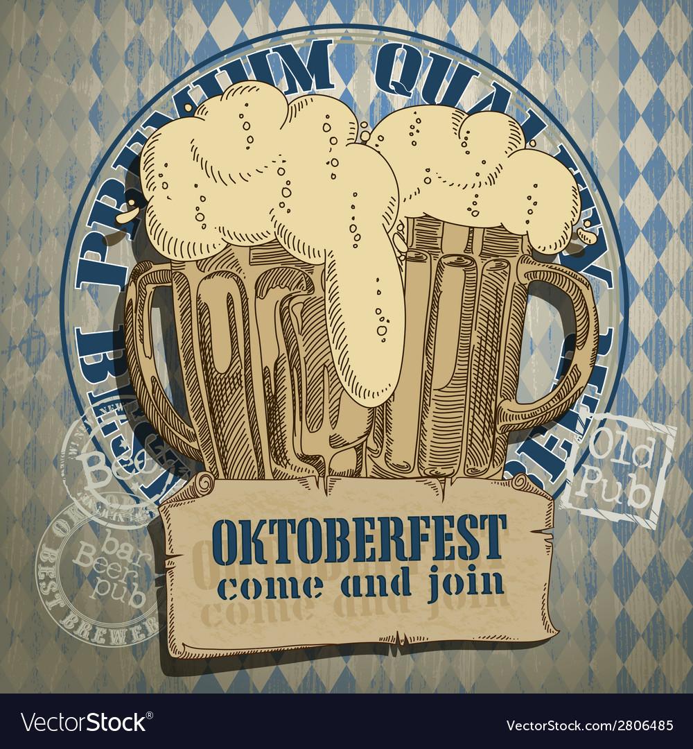 Beer background oktoberfest vector | Price: 1 Credit (USD $1)