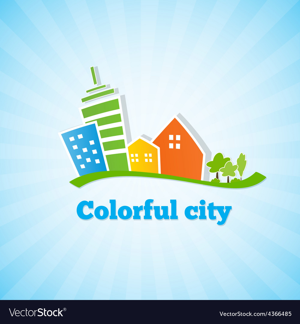 Bright picture of the city vector | Price: 1 Credit (USD $1)