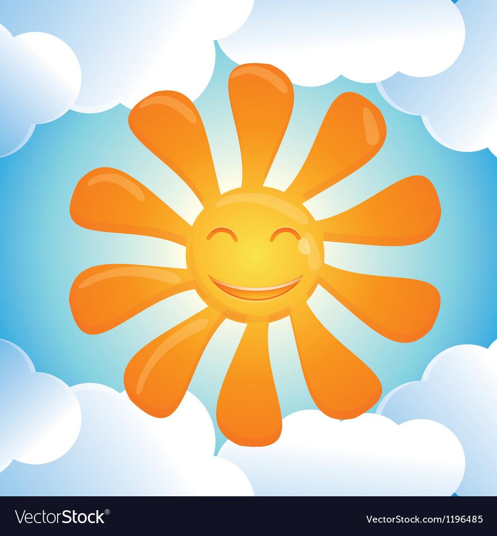 Cartoon smiling sun vector | Price: 1 Credit (USD $1)