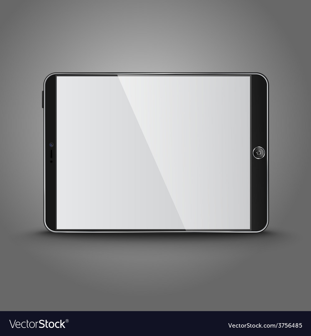 Dark modern tablet computer with blank screen vector | Price: 1 Credit (USD $1)