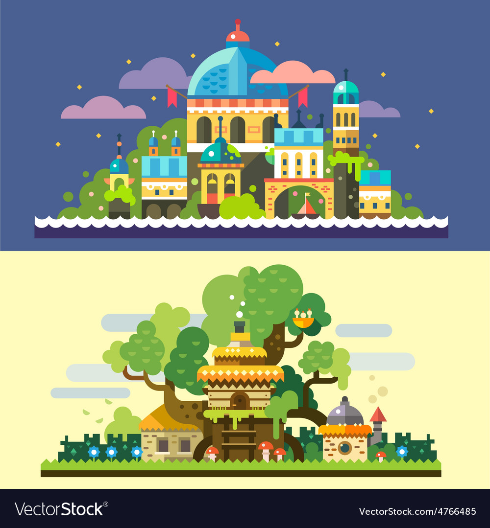 Fantastic landscape vector | Price: 3 Credit (USD $3)