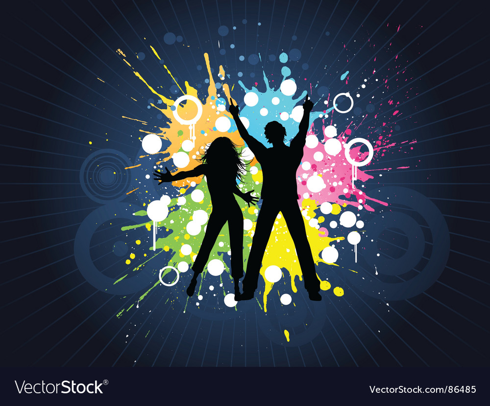 Grunge party people vector | Price: 1 Credit (USD $1)