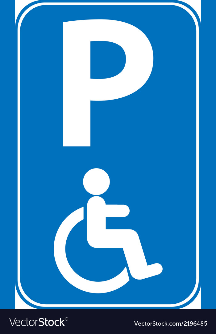 Handicapped parking sign vector | Price: 1 Credit (USD $1)