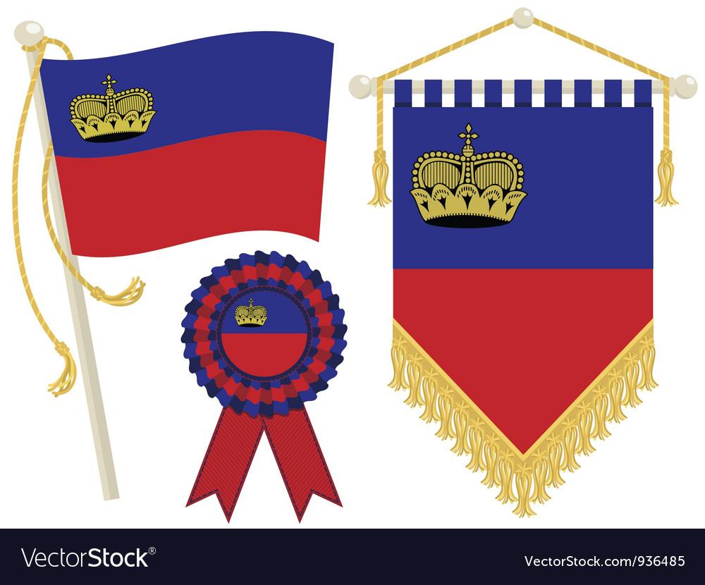 Liechtenstein flags vector | Price: 1 Credit (USD $1)