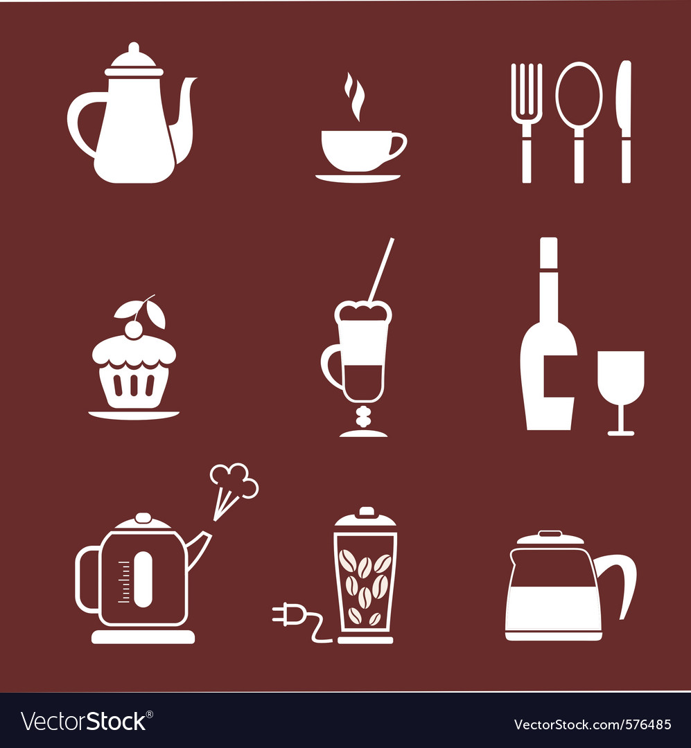 Morning coffee set vector | Price: 1 Credit (USD $1)