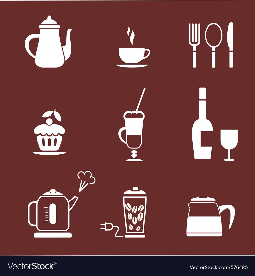 Morning coffee set vector | Price: 1 Credit (USD $1)